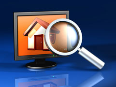 searching for real estate information online